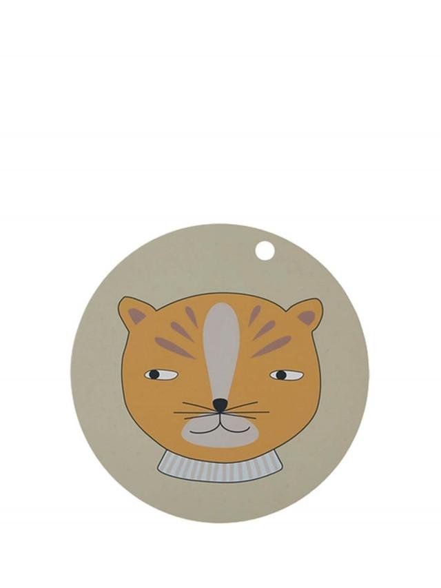 OYOY 圓形矽膠餐墊 - 紳士小豹