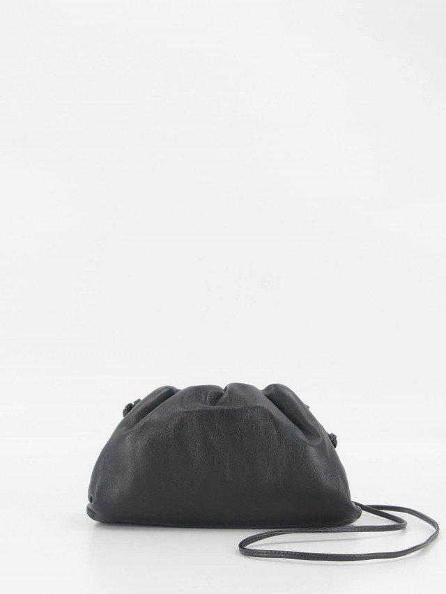 BOTTEGA VENETA The Pouch 牛皮雲朵包 - mini x 黑色
