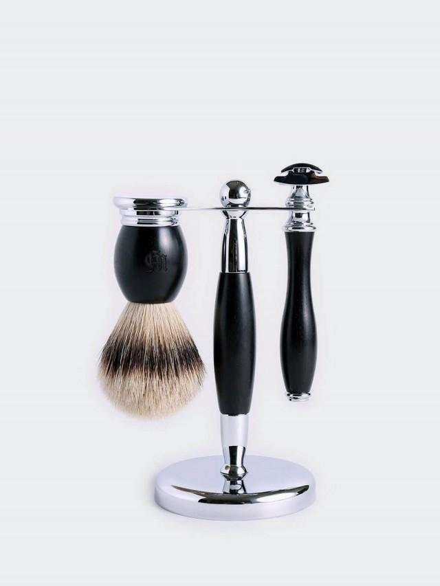 Grand Manner 尊爵系列 / 復古雙刃手動安全刮鬍刀套組 - 黑檀木