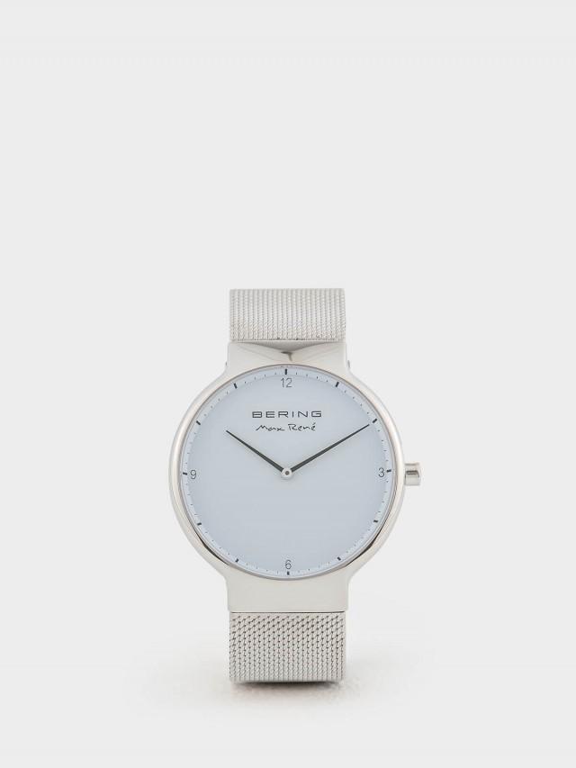 BERING MAX RENE 設計師聯名款白錶盤 x 銀 米蘭錶帶 - 40 mm