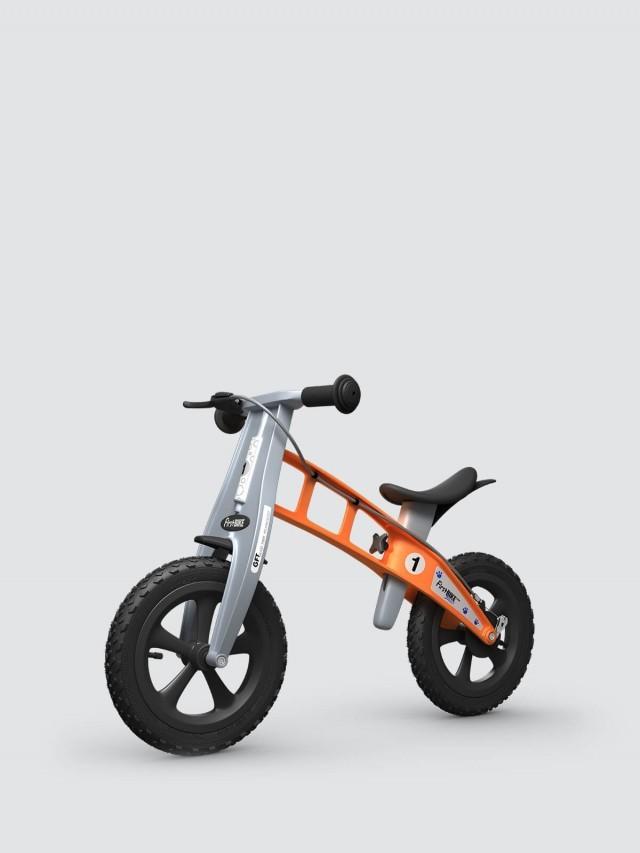 FirstBIKE 兒童滑步車 / 平衡車 - 越野橘 / 附煞車