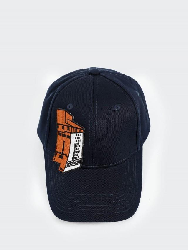 WEAVISM 手動帽 - 藍 / 橘屋刺繡