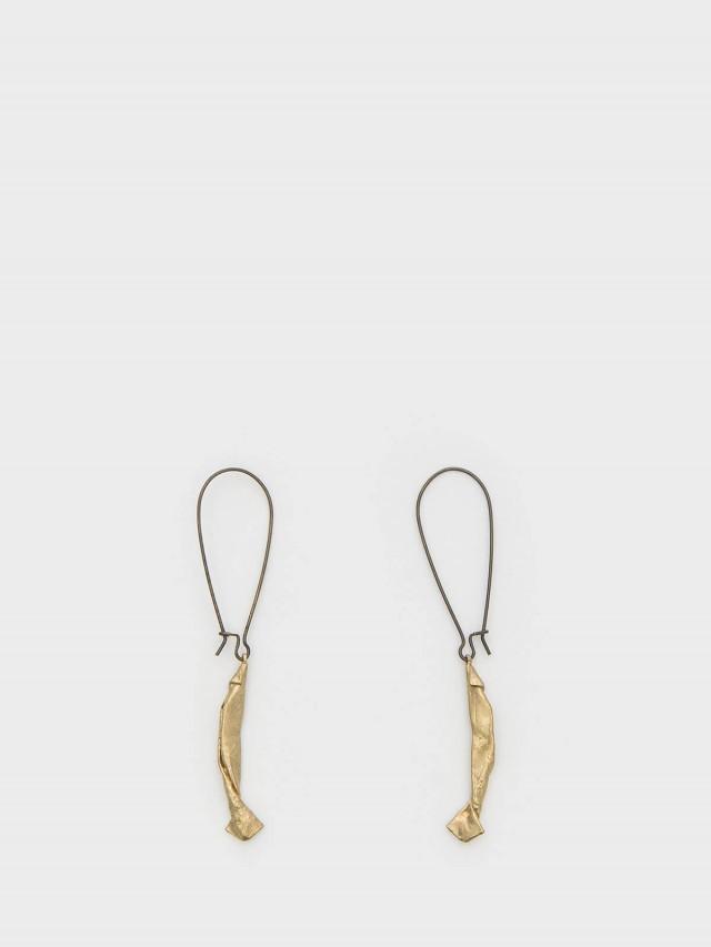 INTZUITION Origamini Fishing 小摺學  Brass 手工黃銅耳墜 earring dangles