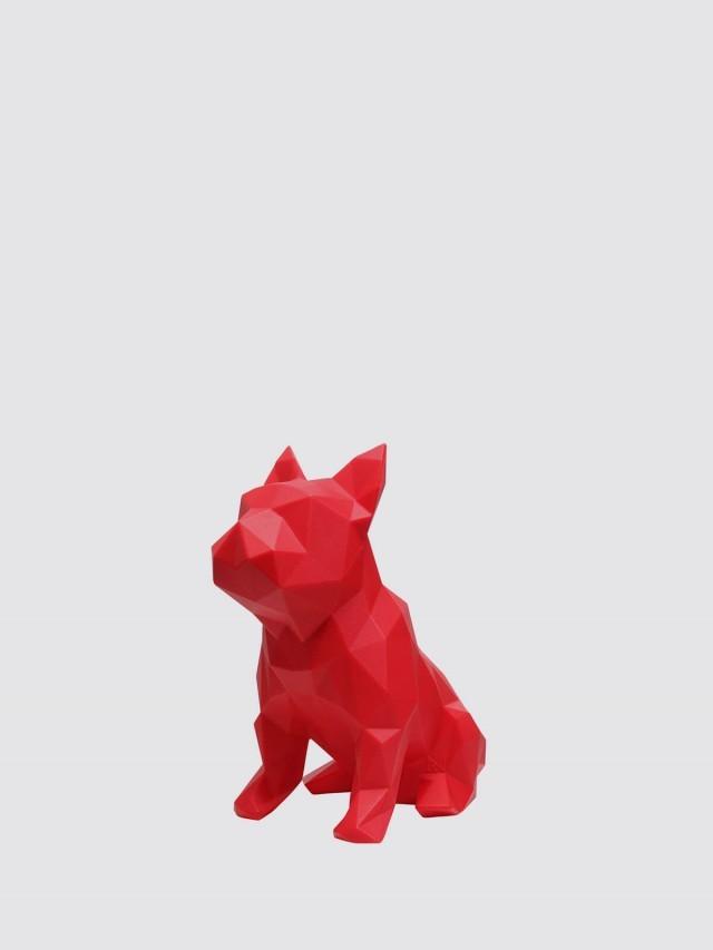 MAROKKA 幾何狗雕塑 x 紅色