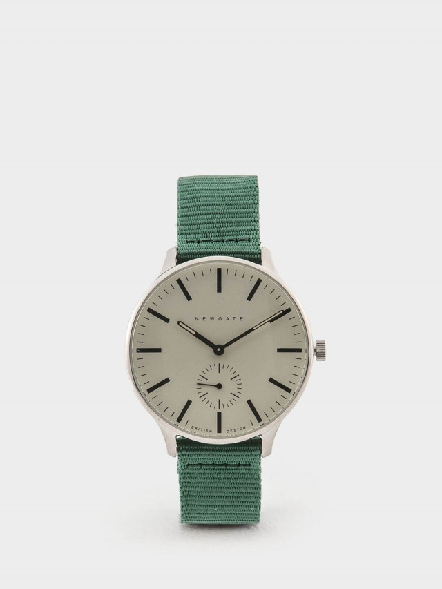 NEWGATE BLIP 經典小秒針 / 森林綠 / 帆布錶帶 40mm