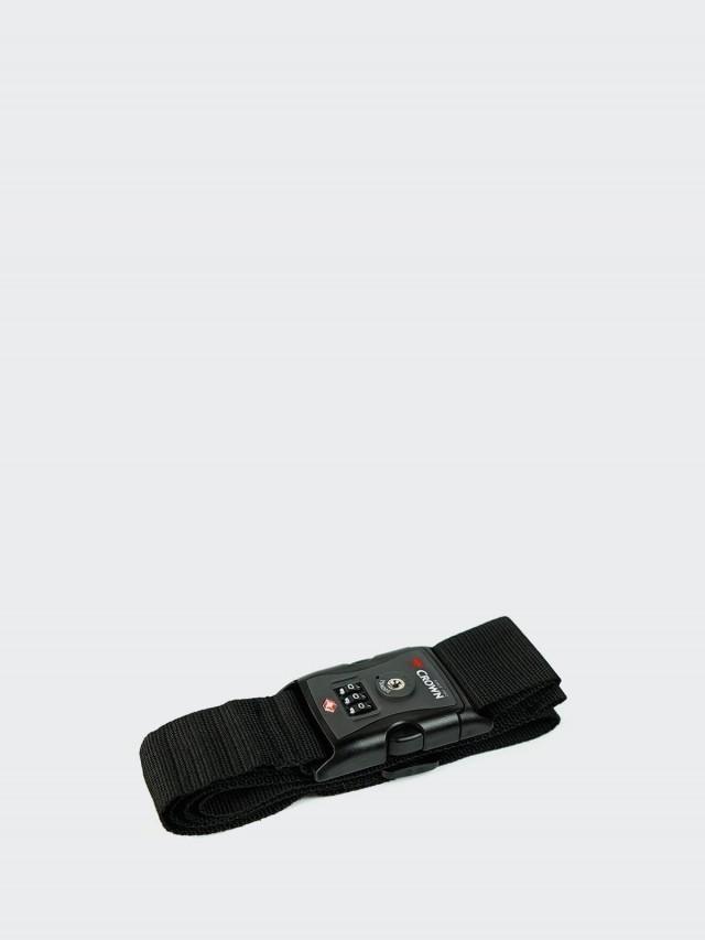 CROWN 行李箱密碼束帶 - 黑