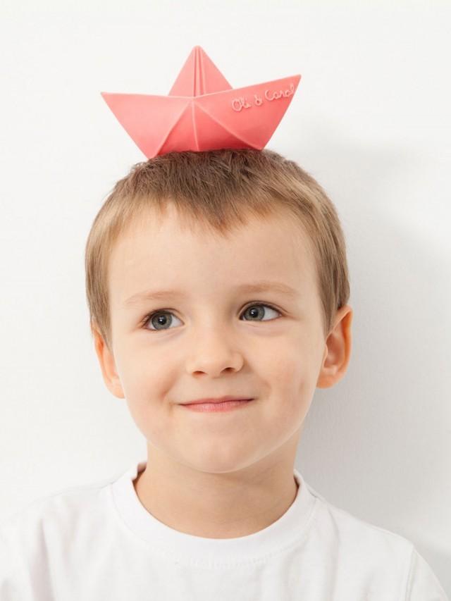 OLI & CAROL 摺紙小船 - 粉紅