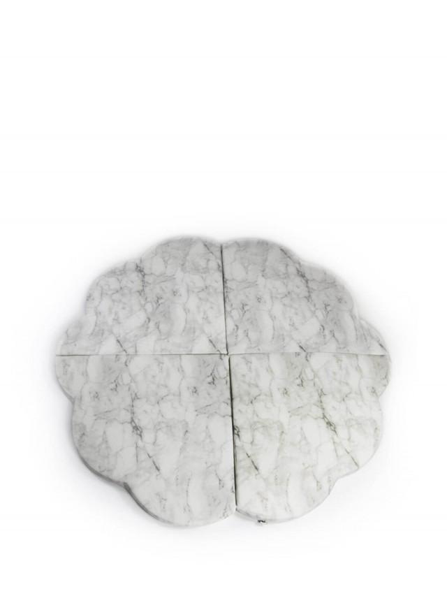 Misioo 多功能遊戲地墊 - 大理石花朵