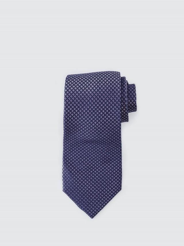 Calvin Klein 素質時尚小格領帶 - 藍 x 粉