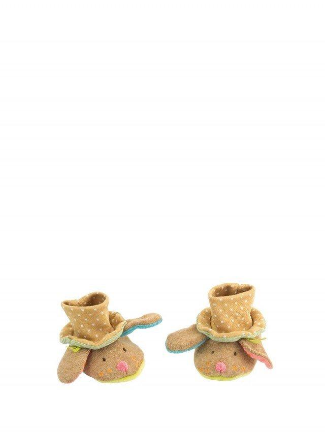 Moulin Roty Tartempois 棕狗寶貝飽暖鞋套 0 - 6 個月