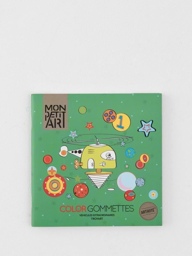 Mon Petit Art 貼紙著色繪本 - 交通工具