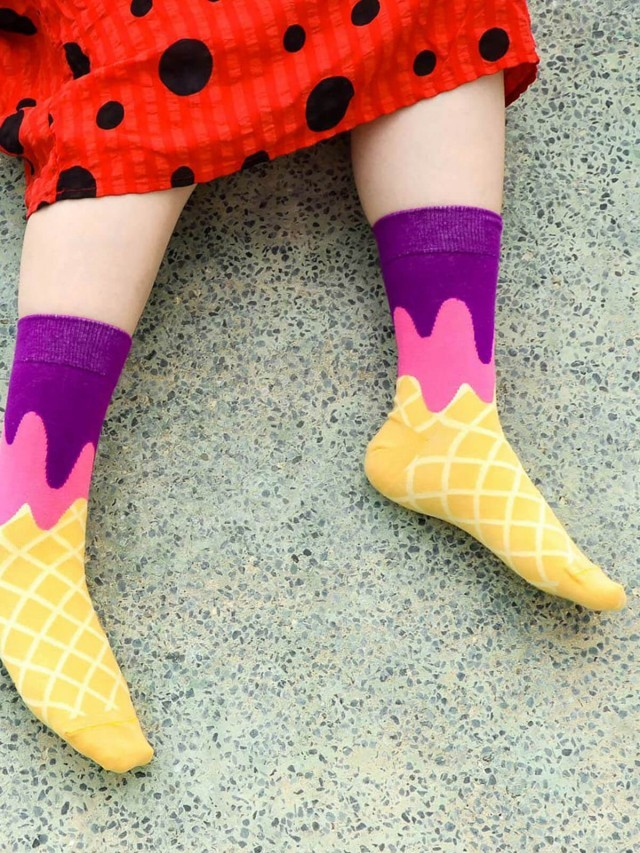 sokker 紫戀甜筒 4 分之 3 襪