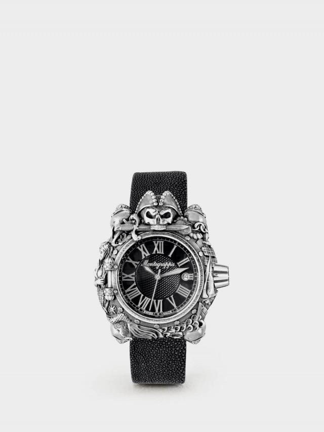 Montegrappa 限量系列 - 海盜自動機械錶款 - 純銀款