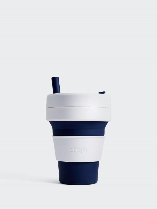 stojo 摺疊吸攜杯 經典款 - 深海藍