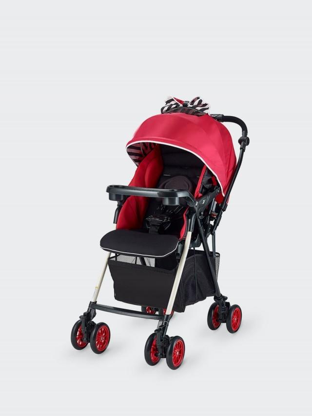 merissa UNO 全時四輪鎖放嬰兒手推車 - 條紋紅