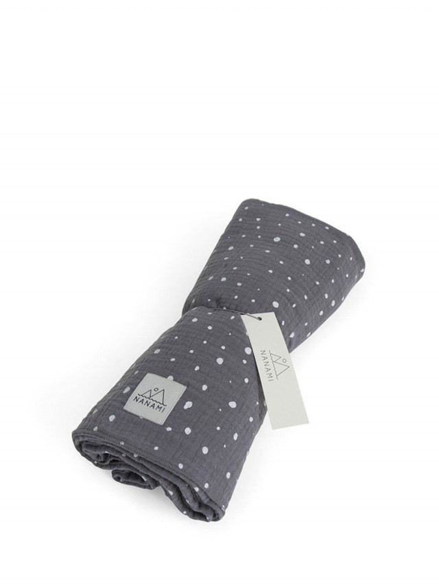 NANAMI 透氣多功能包巾 - 不規則點點 - 灰色