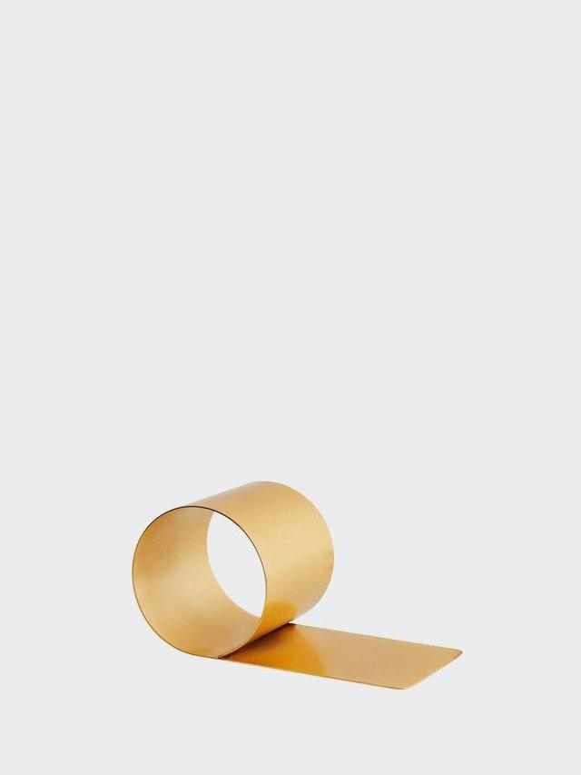 OYOY 極簡風金屬書擋 - 黃銅色