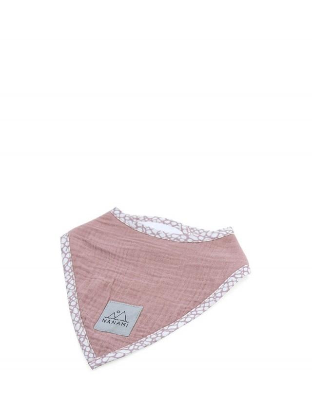 NANAMI 雙層有機棉三角領巾 / 圍兜 - 玫瑰粉