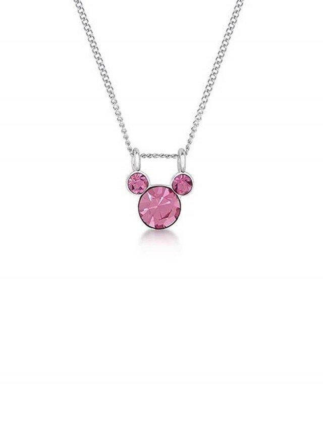 COUTURE KINGDOM Disney Jewellery 米奇經典水晶項鍊 x 桃粉