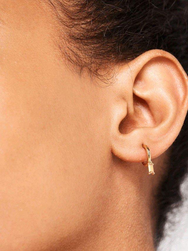 PD PAOLA 蜜桃香檳鍍 18K 金墜飾耳環