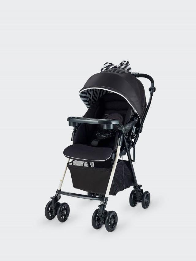 merissa UNO 全時四輪鎖放嬰兒手推車 - 條紋黑