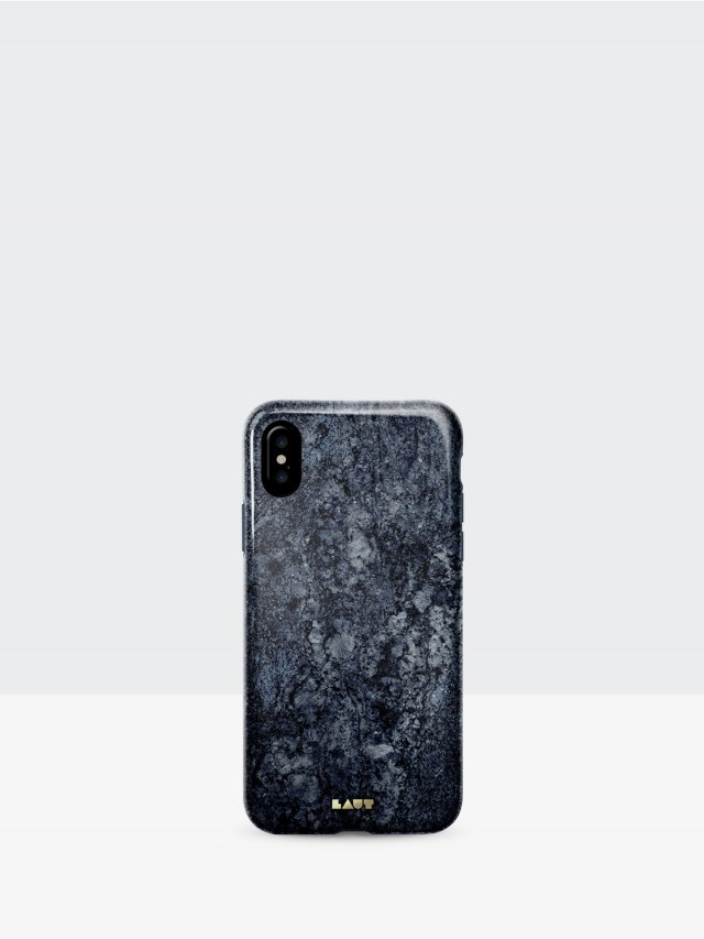 LAUT iPhone X 經典大理石系列 TPU 保護殼 - 藍