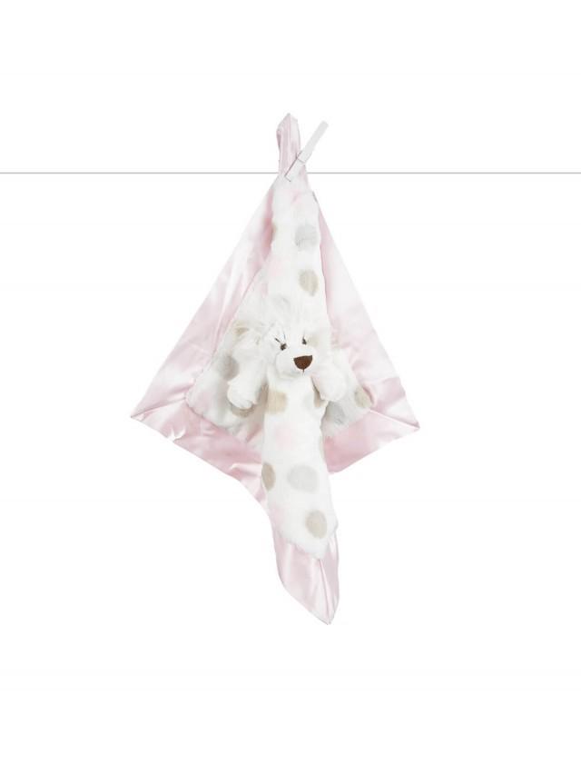 Little Giraffe 動物點點安撫巾 - 小獅粉色