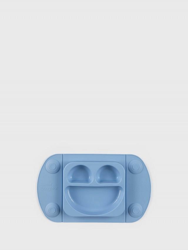 EasyTots EasyMat Mini 防滑矽膠餐盤組 - 天空藍