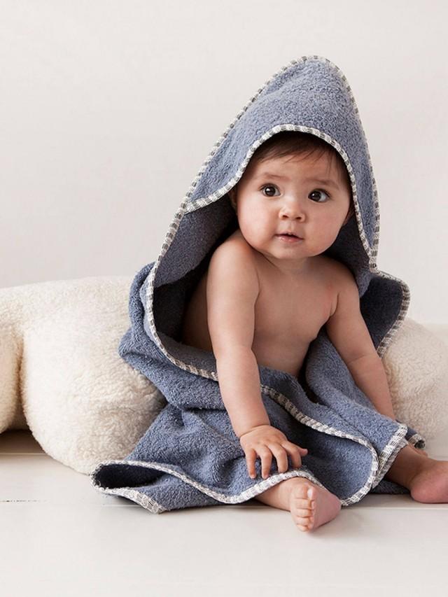 NANAMI 連帽包巾 / 浴巾 - 海洋藍