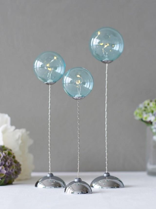 SIRIUS 藍色透明球燈三件組 ( 遙控 )