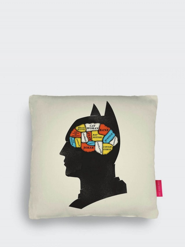 OHH DEER BATMAN PHRENOLOGY CUSHION 蝙蝠俠大腦抱枕