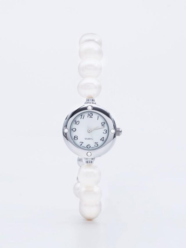 ASAHI JEWELRY 圓形真珠手鍊錶