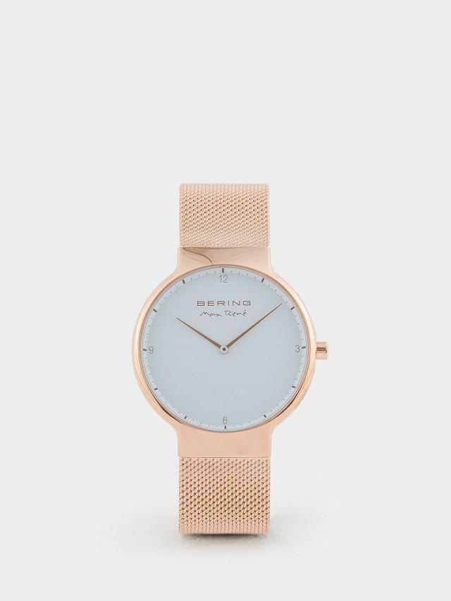BERING MAX RENE 設計師聯名款白錶盤 x 玫瑰金 米蘭錶帶 - 40 mm