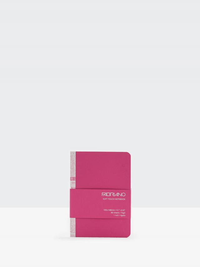 FABRIANO Soft Touch 線條筆記本 - A6 / 桃紅
