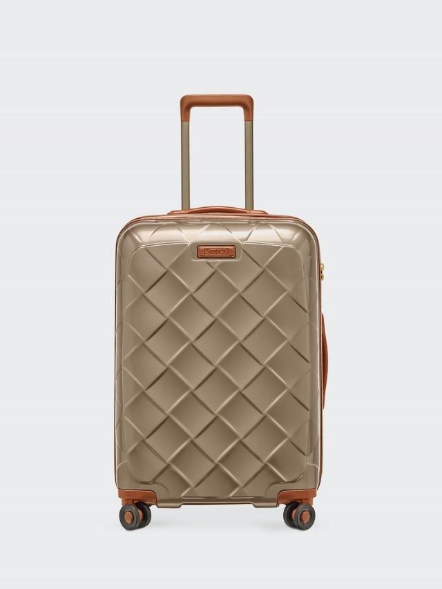 Stratic Leather & More 旅行箱 - 25 吋 / 香檳金