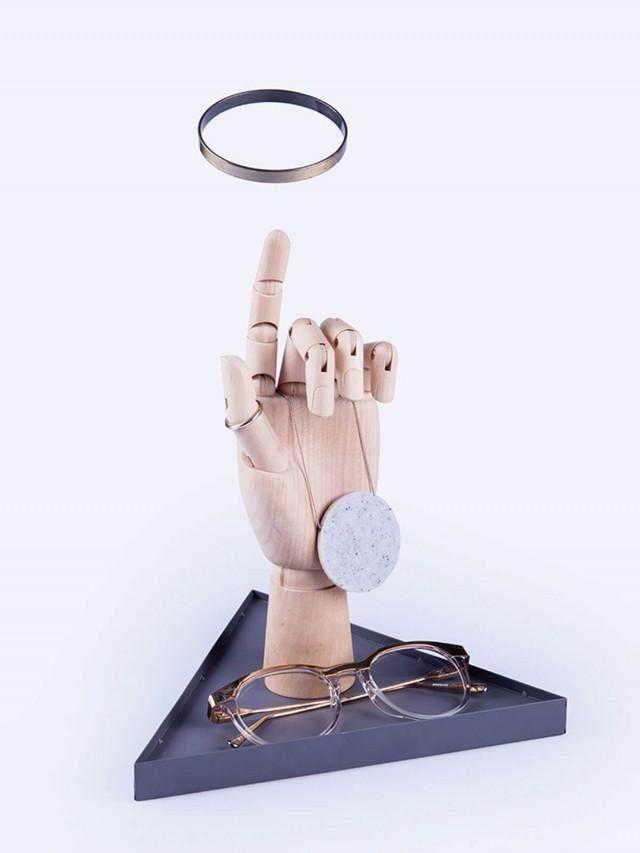 DOIY The Hand - Dark Turquoise 藝術金手指 - 掛架 x 深灰