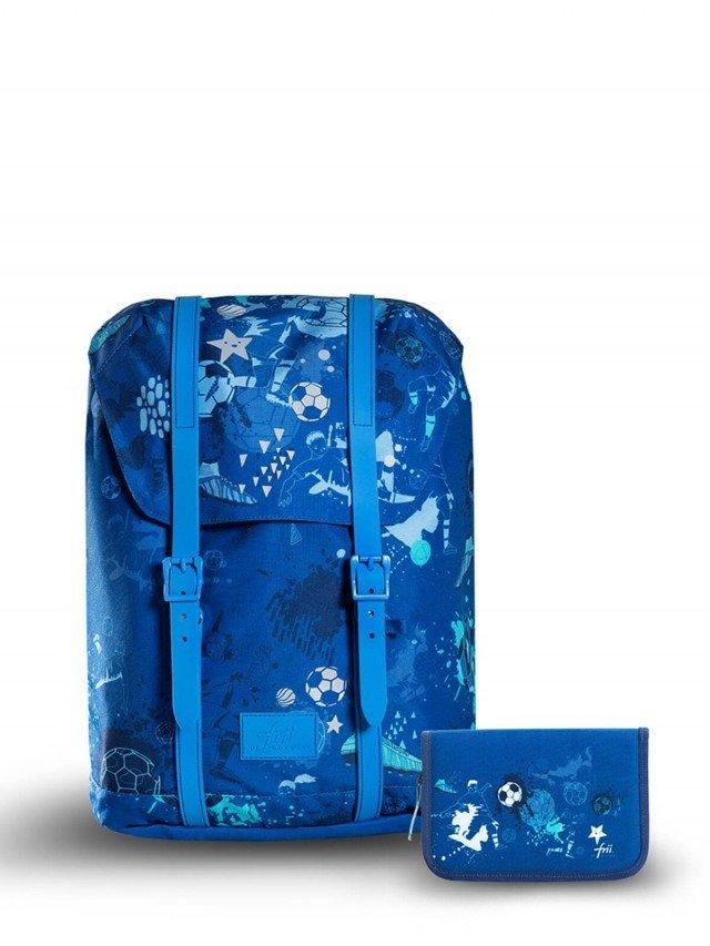 frii 輕量護脊書包 ( 2020新款 ) - Football 足球亮藍 ( 贈同款筆盒 )