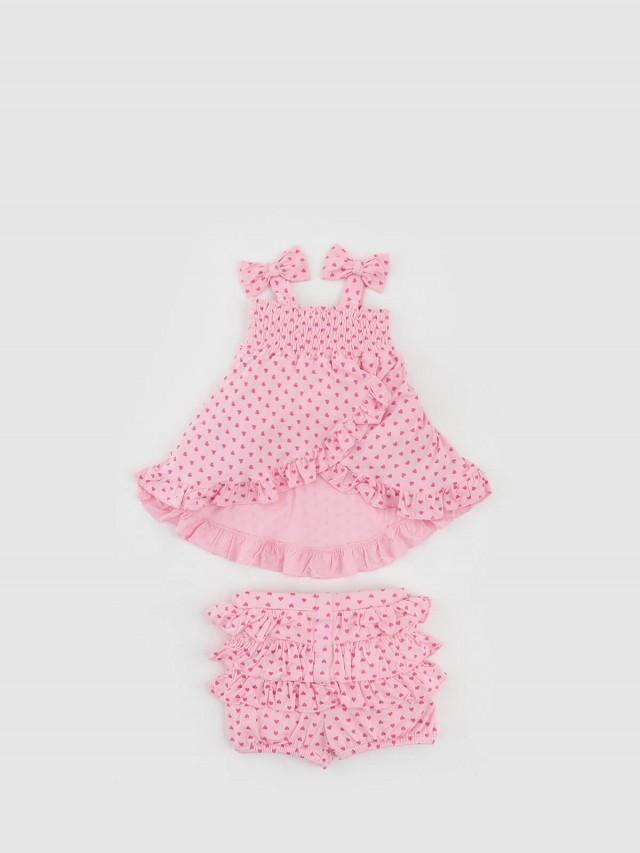 bluebelle 有機竹棉衣褲組 - Baby 系列 / 粉色點點