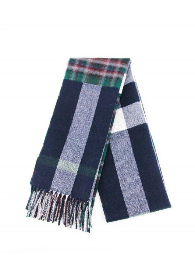 BURBERRY 雙色格子純羊毛圍巾