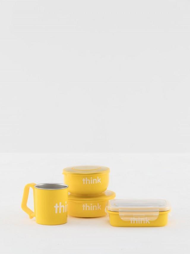 thinkbaby 無毒不鏽鋼餐具組 - 月光黃