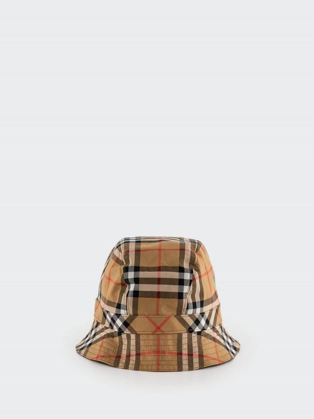 BURBERRY Vintage 彩虹格紋漁夫帽 x 棕色