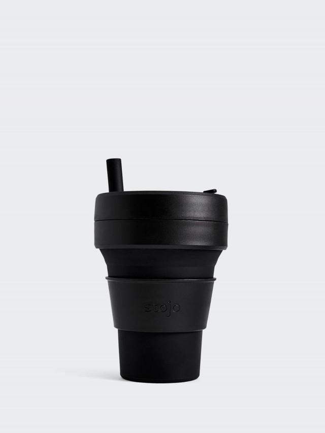 stojo 摺疊吸攜杯 布魯克林限定版 - 石墨黑