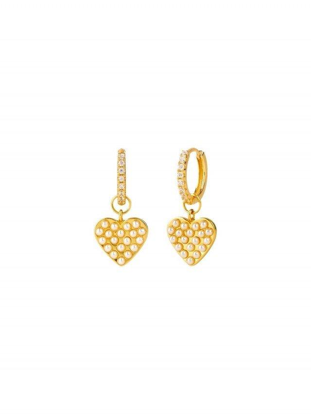 aleyolé 愛戀珍珠 925 純銀鍍 18K 金耳環