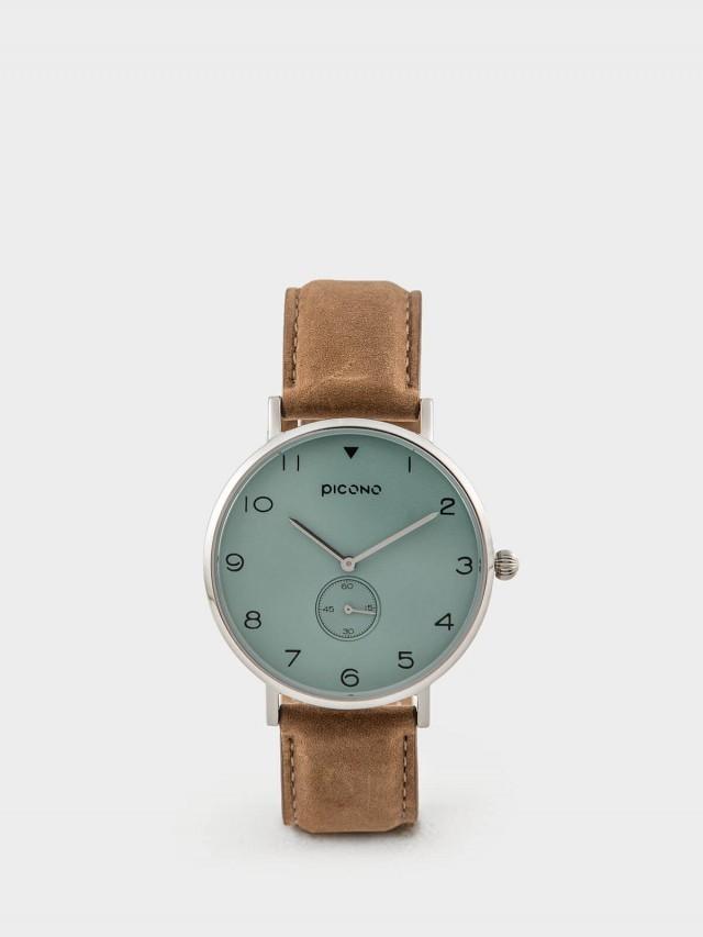 PICONO SPY S 系列 - 真皮錶帶手錶 - 獨特綠