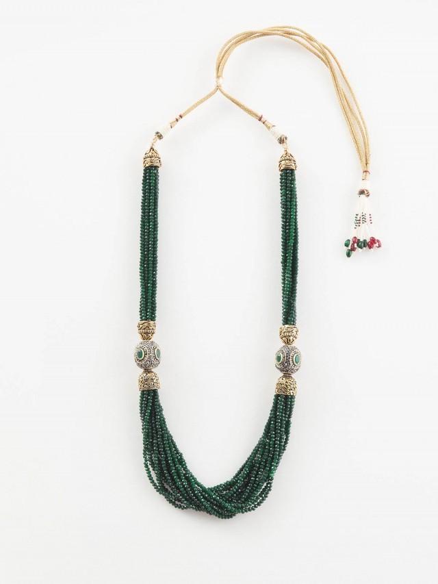 Carol Chugani 多串式綠色圓形珠飾項鍊