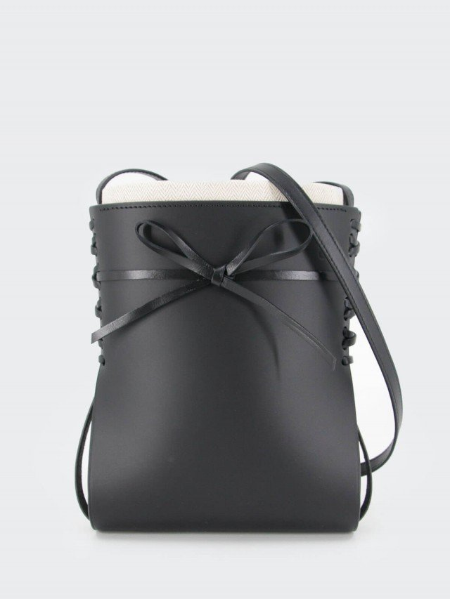 LOEWE 滑面牛皮蝴蝶結設計 Ikebana 斜背包 x 黑色