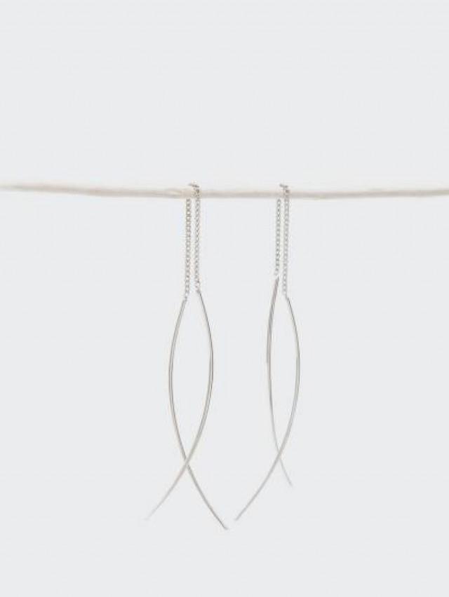 Lélim Jewelry 耳環 SILVER SIDE EARRINGS