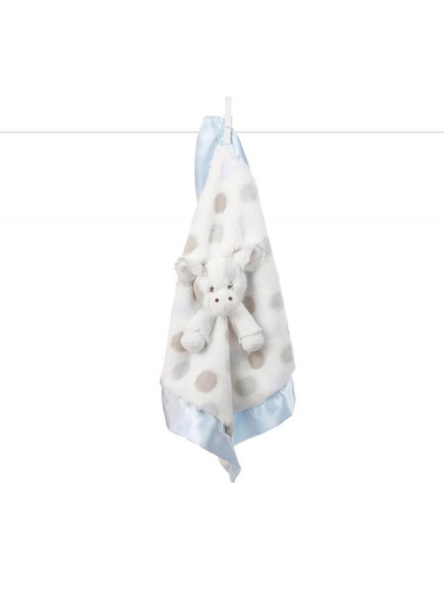 Little Giraffe 動物點點安撫巾 - 長頸鹿藍色