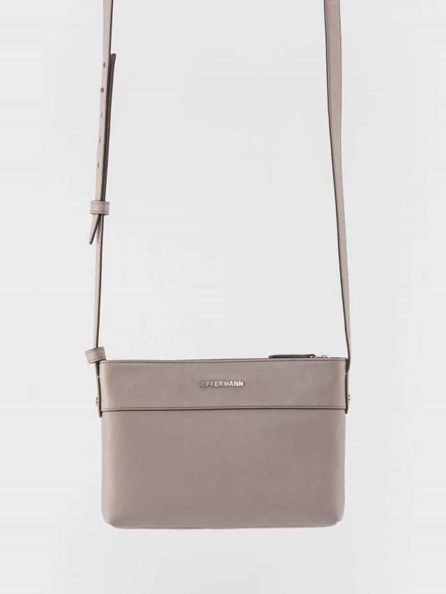 OFFERMANN Tosca 系列 - 時尚素色簡約造型肩背斜背包 - 裸色