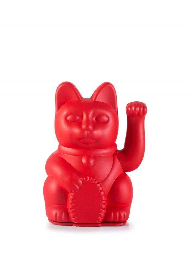 DONKEY 幸運繽紛招財貓 標誌圖形 DIY 版(附貼紙)- 紅